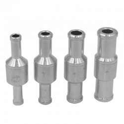 6mm / 8mm / 10mm / 12mm - aluminium alloy - one-way - fuel non-return check valve