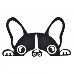 Waterproof - vinyl car sticker with a dog's face