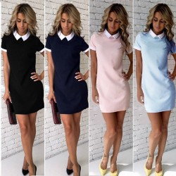 Elegant mini dress with a collar