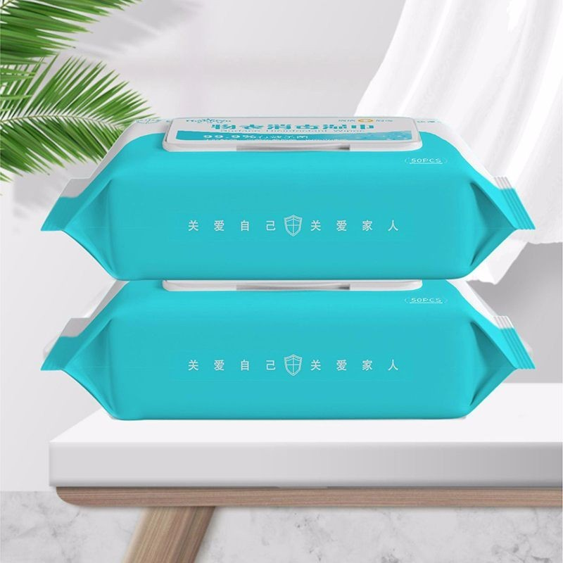 portable disinfection antiseptic pads - alcohol swabs wet wipes skin cleaning care sterilization first aid cleaning tissue box