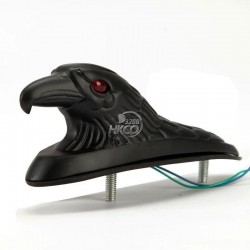 Black eagle head for fender - with red lighted eyes
