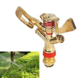 Copper rotating water sprinkler with spray nozzle - connector 1/2 Inch - rocker arm