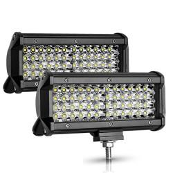 12V / 24V - 72W / 144W - Led light-bar - spotlight for trucks / off-road boats / cars / tractors 4x4 SUV ATV