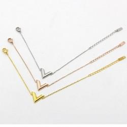 V letter - stainless steel bracelet