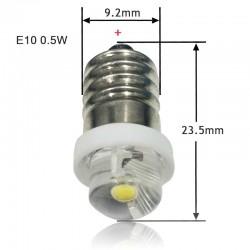 E10 - LED flashlight bulb