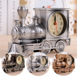 Vintage train with clock