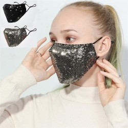 Anti-pollution - breathable - cotton face/mouth mask with sequins