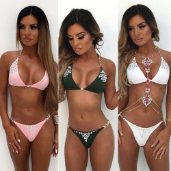 Crystal bikini set - beachwear - swimsuit - women