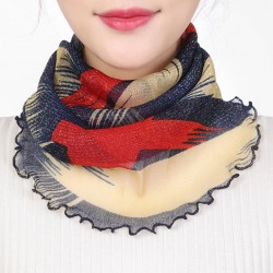 Neck collar scarf - women - silk - anti uv - mask