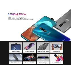 ELEPHONE PX Pro Global Version - dual sim - 6.53 inch - NFC - Android 10 - 4GB 128GB - Helio P70 - 4G - grey