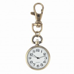 Vintage retro bronze watch - keychain