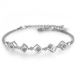 Elegant bracelet with cubes - silver 925