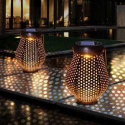Hanging Brown Solar Lanterns - Outdoor - 1pc - 2pcs