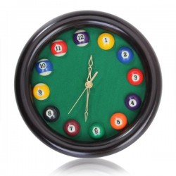Billiards - Pool Table Ball - Wall Quartz Clock