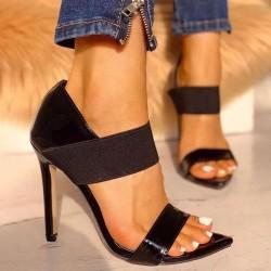 High Heels - Women - Thin High Heels - Sandals - Pumps - Beige - Black
