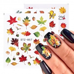Fall leaves - nail stickers