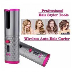 Ceramic hair curler - cordless - auto-rotating - Led display - USB