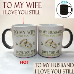 To My Wife / To My Husband - temperature color changing mug - 350 ml