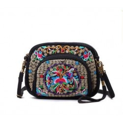 Vintage Zipper Bag - Ethnic National style