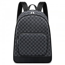 Plaid design backpack - USB charging port - waterproof