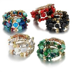 Multi colored beads - charm bracelets - resin stone