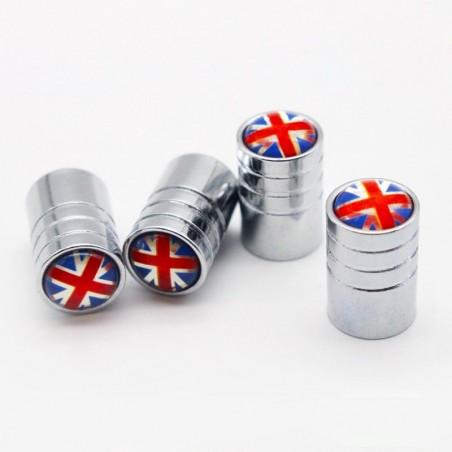4pcs - uk flag - valve cap