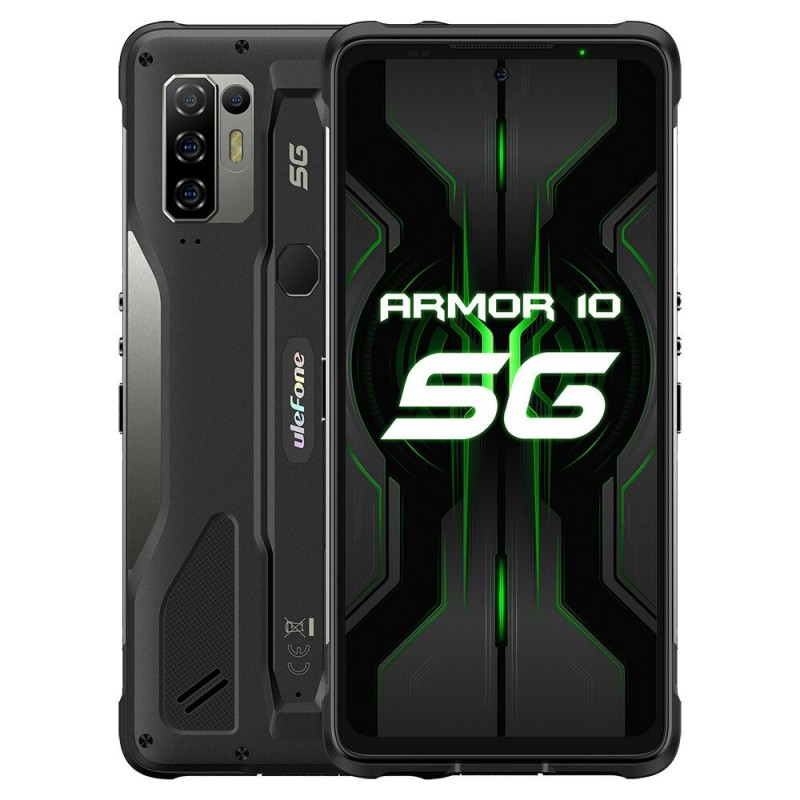 Ulefone Armor 10 - dual sim - 5g - 6.67 inch - 8gb 128gb - 64mp quad camera - nfc - 5800mAh - black - eu version