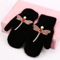 Women Gloves - Winter - Rabbit - Fur