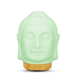Buddha head - air humidifier - diffuser - night lamp - LED - 100ml