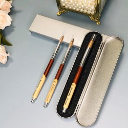 Acrylic Nail Brush - Wood Handle