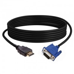 HDTV - HDMI gold male to VGA - HD-15 male - 15Pin - adapter - cable - 1080P - 1.8m