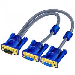VGA splitter cable - male to dual female - HD 1080P