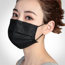 Non-woven - fabric - black masks