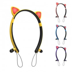 Bluetooth - wireless headset - microphone - in-ear headphones - Led luminous cat ears