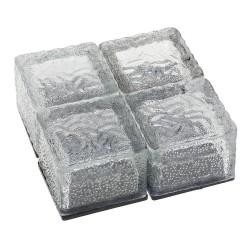 Glass stone - ice cube - crystal garden light - night lamp - solar - 4 pieces