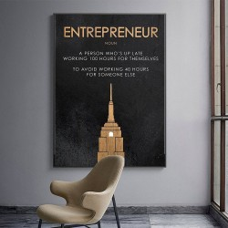 ENTREPRENEUR - motivational quote - poster - canvas wall picture