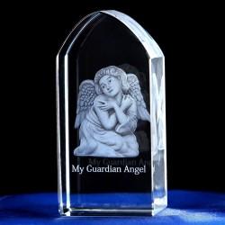 3D laser engraved cube - Jesus - angel - virgin Mary - crystal statue