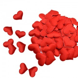 Satin hearts petals - confetti - weddings / tables / beds / Valentine's decoration - 100 pieces - 35mm