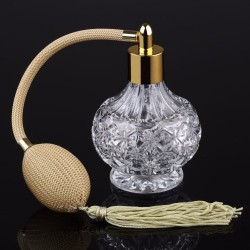 Clear crystal glass perfume bottle