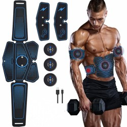 Abdominal muscle trainer - electric fitness stimulator