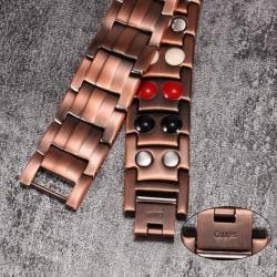 Vintage copper bracelet - magnetic - unisex