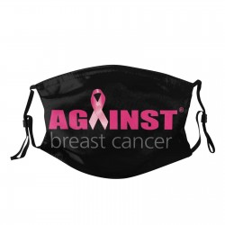 Breast cancer support print - cotton face mask - PM.25 - reusable - washable