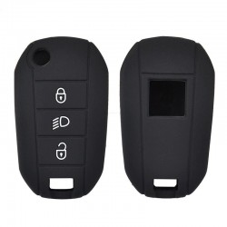 Silicone key fob cover case - Peugeot - 3008 - 208 - 308 - RCZ - 508 - 408