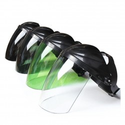 Protective face shield - adjustable plastic mask - helmet - for welding / electrical work / kitchen