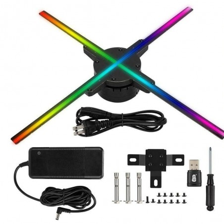 3D hologram projector fan - 576 LEDs - WiFi/PC Control