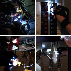 Glove with torch - night car repair