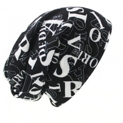Multifunctional beanie - scarf - design with letters - unisex