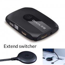 HDMI KVM switch with extender - 4K - 2-4 ports - USB 2.0