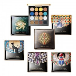 Egyptian style - eyeshadow palette - holographic - shiny / matte / glitter pigment - 16 colors