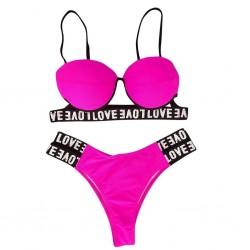 Sexy bikini set - leopard print - LOVE letters